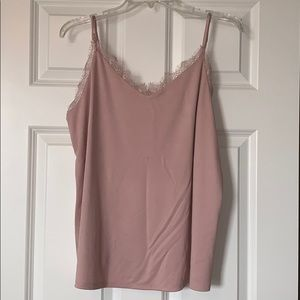 NWT A New Day Light Pink Lace Top Camisole